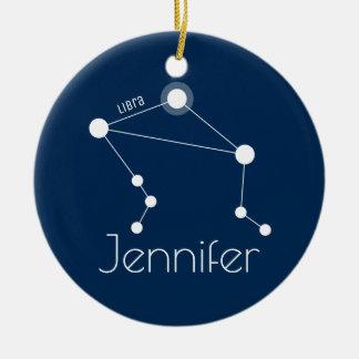 Ornamento personalizado da constelação do Libra