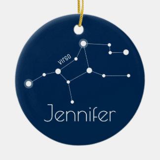 Ornamento personalizado da constelação do Virgo