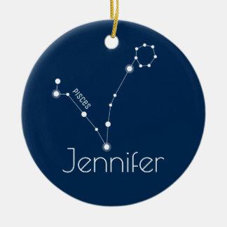 Ornamento personalizado da constelação dos peixes
