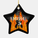 Ornamento personalizado da estrela do rock