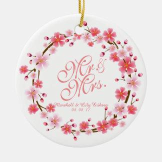 Ornamento personalizado da grinalda | da flor de