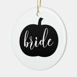 Ornamento personalizado da noiva da queda com foto