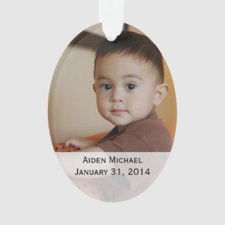 Ornamento personalizado das fotos do bebê