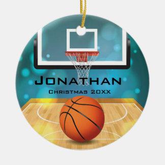 Ornamento personalizado do basquetebol