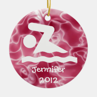 Ornamento personalizado do design da natação