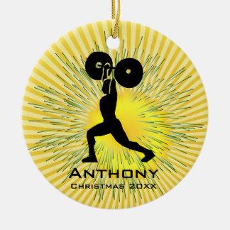 Ornamento personalizado do elevador de peso