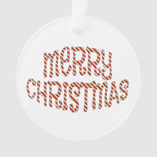 Ornamento personalizado do Feliz Natal