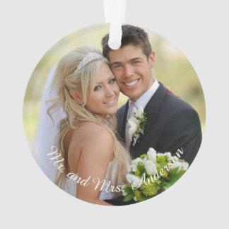 Ornamento personalizado do floco de neve da foto