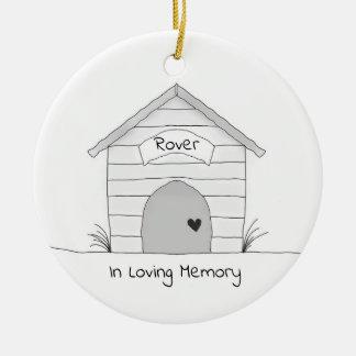 Ornamento personalizado do memorial do animal de