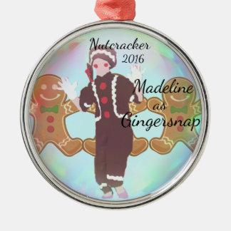 Ornamento personalizado do Nutcracker - Gingersnap
