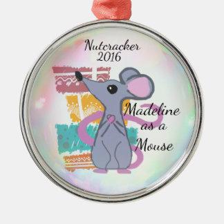 Ornamento personalizado do Nutcracker - rato