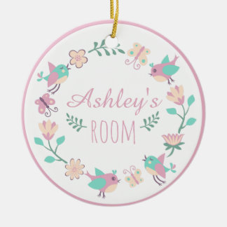Ornamento personalizado floral para a sala da