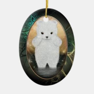 Ornamento personalizado macio do urso polar