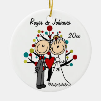 Ornamento personalizado ø Natal Wedding do casal