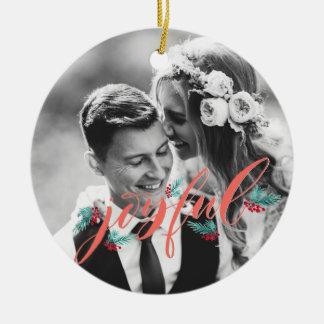 Ornamento personalizado para Newlyweds