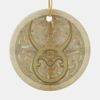 Ornamento personalizado sinal da estrela do Taurus