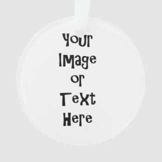 Ornamento Personalize com imagens e texto personalizados