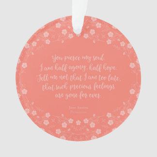 Ornamento Persuasão floral Jane Austen das citações da carta
