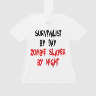 Ornamento Piada do zombi do Survivalist