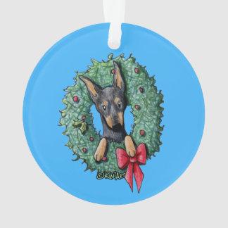 Ornamento Pinscher diminuto do Natal