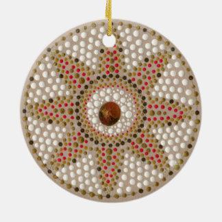 Ornamento pintado à mão de duas mandalas da