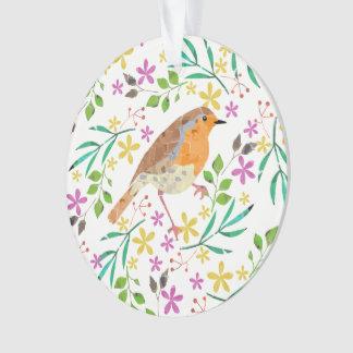 Ornamento Pisco de peito vermelho o pássaro do Natal
