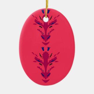 Ornamento populares vermelhos
