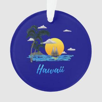 Ornamento Por do sol da praia de Havaí