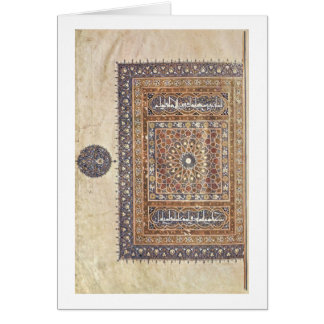 Ornamento por pintores árabes por volta de 1375 cartão comemorativo