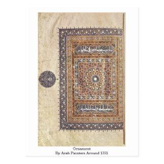 Ornamento por pintores árabes por volta de 1375 cartoes postais