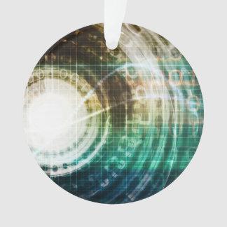 Ornamento Portal futurista da tecnologia com Digitas