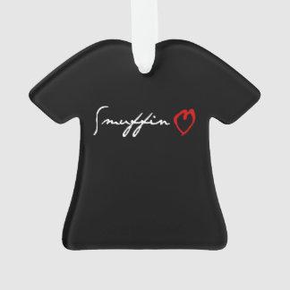 Ornamento Preto da marca da obscenidade do amor de Smuffin