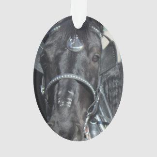 Ornamento preto do cavalo