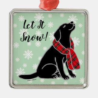 Ornamento preto do lenço do Tartan de Labrador