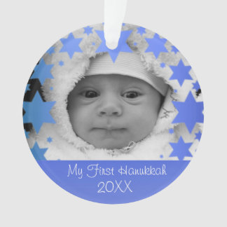 Ornamento Primeiro Hanukkah personalizado