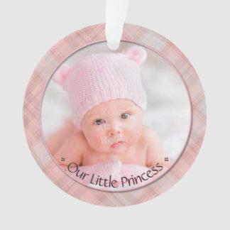 Ornamento Princesa pequena Primeiro Natal Lembrança do bebé