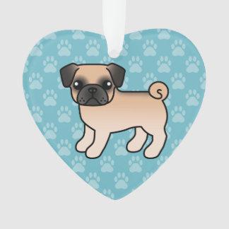 Ornamento Pug da jovem corça do abricó com o cão dos