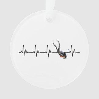 Ornamento Pulsação do coração do mergulho autónomo das