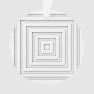 Ornamento Quadrado branco geométrico