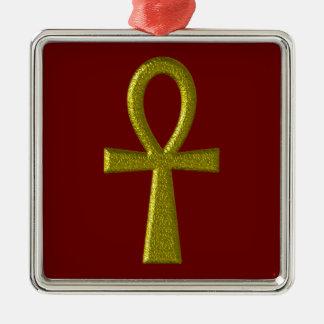 Ornamento quadrado superior de Ankh do ouro