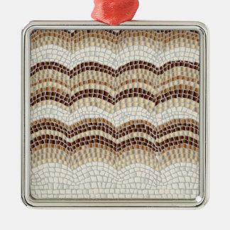 Ornamento quadrado superior do mosaico bege