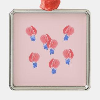 Ornamento quadrado superior dos balões de ar