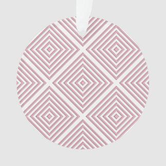 Ornamento Quadrados geométricos cor-de-rosa