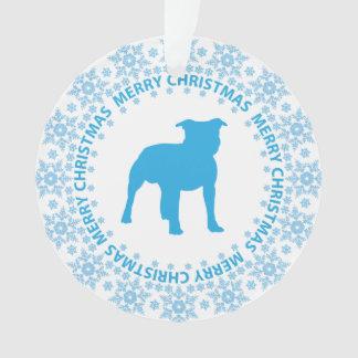 Ornamento Raça azul & branca do país das maravilhas do