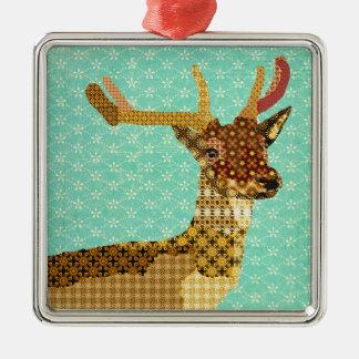 Ornamento real de turquesa da rena