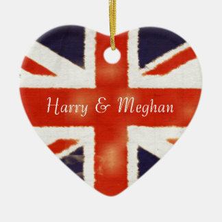Ornamento real do coração de Harry e de casamento
