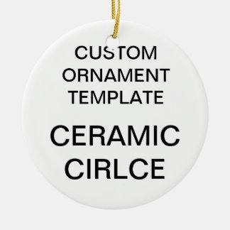 Ornamento redondo da árvore de Natal da porcelana