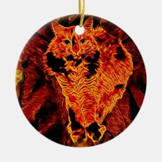 Ornamento redondo de Catflagration
