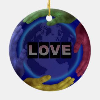 Ornamento redondo do amor