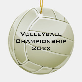 Ornamento redondo do design do voleibol